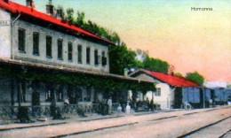 Slowakei-Slovakia, Humenné - Homonna 1915, železničná Stanica-bahnhof, Reproduction - Slovakia