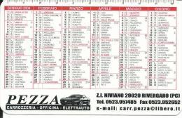 CAL617 - CALENDARIETTO 2004 - PEZZA CARROZZERIA - RIVERGARO (PC) - Calendari