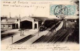 Vierzon - La Gare Prise Du Pont - Vierzon
