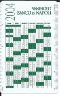 CAL619.1 - CALENDARIETTO 2004 - SANPAOLO BANCO DI NAPOLI - Calendari
