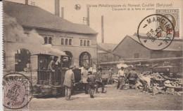 Belgique :  COUILLET :  Usines  Métallurgiques  Du  Hainault   (chargement De La Fonte ) )  CARTE  CARNET   ( Timbre - ) - Bélgica