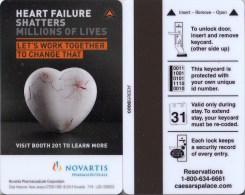 Key Card - Room Key - Sleutelkaart - Clef De Hotel  - Caesars Palace Heart Failure Novartis - Hotelsleutels (kaarten)
