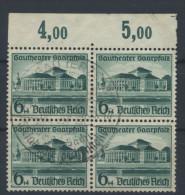 Deutsches Reich Nr. 673 gestempelt used Viererblock