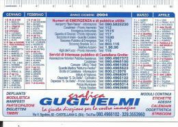 CAL622 - CALENDARIETTO 2004 - GRAFICA GUGLIELMI - CASTELLANA (BA) - Calendari