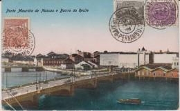 Brésil : Ponte   Mauricio  De   Nassau E  Bairro   Do   Recife  (  Timbre ) - Unclassified