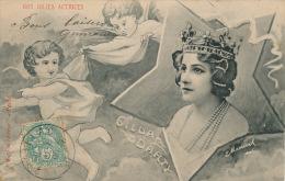 FEMMES - FRAU - LADY - SPECTACLE - Jolie Carte Fantaisie NOS JOLIES ACTRICES - Portait De GILDA DARTY Dans Etoile - Femmes