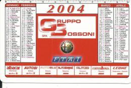 CAL627 - CALENDARIETTO 2004 - GRUPPO BOSSONI AUTOMOBILI - Calendari