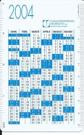 CAL628 - CALENDARIETTO 2004 - CASSA DI RISPARMIO DI ORVIETO - Calendari