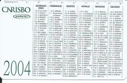CAL629 - CALENDARIETTO 2004 - CARISBO SANPAOLO - Calendari
