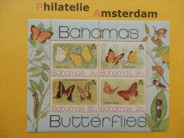Bahamas 1975, FAUNA INSECTS BUTTERFLIES SCHMETTERLINGE VLINDERS PAPILLONS MARIPOSAS: Mi 378-81, Bl. 13, ** - Butterflies