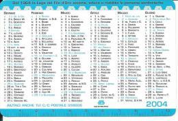 CAL632 - CALENDARIETTO 2004 - LEGA DEL FILO D'ORO - Calendari