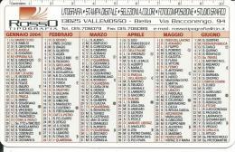 CAL634 - CALENDARIETTO 2004 - ROSSO TIPOGRAFIA - VALLEMOSSO (BI) - Calendari
