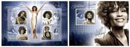UGANDA 2012 - Whitney Houston - Mi 2859-62 + B387; CV = 21 € - Uganda (1962-...)