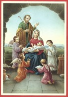 CARTOLINA NV ITALIA - NATALE -  Sacra Famiglia E Angioletti - CROMO N.B. - Serie 2000 - 2001 - 10 X 15 - Natale