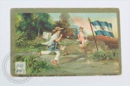 Old Die Cut Trading Card/ Chromo Topic/ Theme, Spanish Chocolate Juncosa - Honduras Flag & Universal Postal Service - Otros