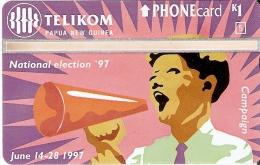 TARJETA DE PAPUA Y NUEVA GUINEA DE NATIONAL ELECTION ' 97  (NUEVA-MINT) - Papua New Guinea