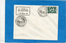 MARCOPHILIE-lettre Dahomey Cachet  FOIRE DE BOHICON-fev 1957 Sur Tp AOF Café - Dahomey (1899-1944)