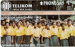 TARJETA DE PAPUA Y NUEVA GUINEA DE PALMALMAL HIGH SCHOOL GIRLS (NUEVA-MINT) - Papua New Guinea