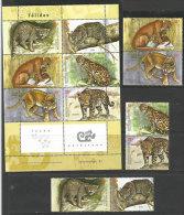 Les Félins D'Argentine (Puma,Jaguar,Ocelot,Kodkod,Chat Sauvage,etc) Série + BF Neufs **  Côte 30,00 € - Ungebraucht