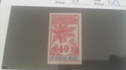 LOT 228900 TIMBRE DE COLONIE HAUT SENEGAL NEUF* N�11 VALEUR 13 EUROS