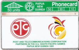 TARJETA DE PAPUA NUEVA GUINEA DE 50 UNITS POST AND TELECOMMUNICATIONS CORPORATION (104G) - Papua Nueva Guinea