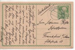Nr.  2291 ,  Ganzsache Österreich,  Spindelmühle Nach Frankfurt  1912 - Interi Postali