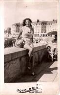 "PORTRAIT Nº 2136 PIN UP FEMME-MUJER-DONNA-WOMEN MAR DEL PLATA ""CASA FOTO ARIS"" ANNEE 1950 NON CIRCULEE GECKO - Pin-Ups"