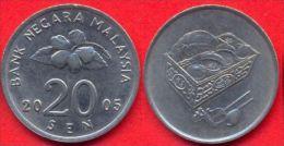 Malaysia 20 Sen 2005 AUNC - Malaysie