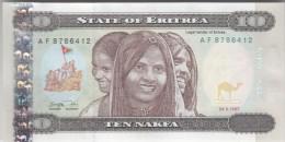 ERITREA 10 NAKFA 1997 P-3 UNC */* - Erythrée