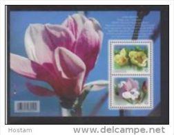 CANADA 2013, # 2621,   Magnolia  Pair     SS   Flowers - Blocs-feuillets