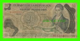 BILLETS DE BAGOTA, COLOMBIA - VEINTE PESOS ORO - No 87405851, 1979 - - Colombie