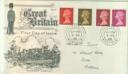 Great Britain - 4 Stamps 1/2D - 1D - 2D - 6D - Lettres & Documents