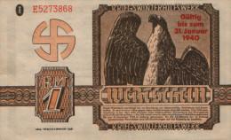 Germany 1 Reich Mark 1940. UNC. - [ 4] 1933-1945 : Troisième Reich