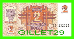 BILLETS DE LETTONIE - DIVI 2 LATVIJAS RUBLI - No SL 232324, 1992 - BILLET NEUF - - Lettonie