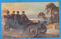 OLD POSTCARD AUTO AUTOMOBILE TAXI USED 1910 - Taxi & Carrozzelle