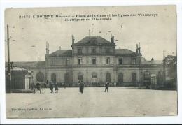 CPA - Libourne - Place De La Gare Et Les Lignes Des Tramways éléctriques Du Libournais - Libourne