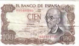 BILLETE 100 PESETAS 1970- MANUEL DE FALLAS - 100 Pesetas