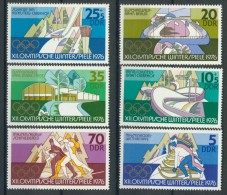 BL3-534 DDR, EAST GERMANY 1975 MI 2099-2104 SPORT, WINTEER OLYMPICS INNSBRUCK. MNH, POSTFRIS, NEUF** - Winter 1976: Innsbruck