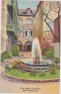 ETATS-UNIS D´amérique,united States,louisana,NEW ORLEANS EN 1949,TWO SISTERS COURT YARD,nouvelle Orléans,fontaine,rare - New Orleans