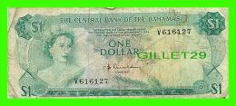BILLETS DU BAHAMAS - ONE DOLLAR, 1$  - THE CENTRAL BANK OF THE BAHAMAS, 1974  - No V 616127 - - Bahamas