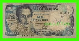 BILLETS DE LA COLOMBIE - BANCO DE LA REPUBLICA COLOMBIA -  MIL PESOS - No 38526230, 1993 - - Colombie
