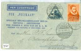 LP * PER PELIKAAN * NEDERLANDS-INDIE * BRIEFOMSLAG Uit 1933 Van BUITENZORG Via BATAVIA Naar AMSTERDAM  (9165) - Netherlands Indies