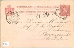 NEDERLANDS-INDIE * HANDGESCHREVEN BRIEFKAART Uit 1900 Van BATAVIA Via WELTEVREDEN Naar AMSTERDAM (9171) - Indes Néerlandaises