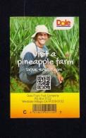 # PINEAPPLE DOLE Calibre 7 Fruit Tag Balise Etiqueta Anhanger Ananas Pina Costa Rica - Fruits & Vegetables