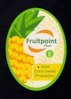 # PINEAPPLE FRUITPOINT Calibre 6 Fruit Tag Balise Etiqueta Anhanger Ananas Pina Costa Rica - Fruits & Vegetables
