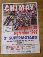 Circuit de Chimay--  Dimanche 28 septembre 1997 - 3e SUPERMOTARD Championnat de Belgique QUADS