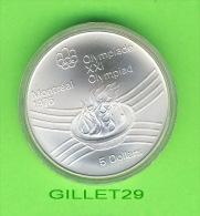 MONNAIES DU CANADA - 5 DOLLARS, XXI OLYMPIADES  MONTRÉAL 1976 - MINT CONDITION - - Canada