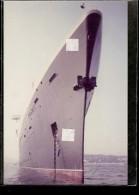 """PHOTO Du PAQUEBOT """" FRANCE """"la PROUE     ( Compagnie Générale Transatlantique ) - Boats"""