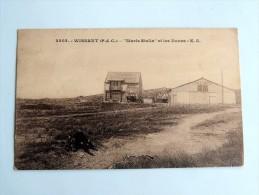 """Carte Postale Ancienne : WISSANT : """"Maris Stella"""" Et Les Dunes , Garage Autos , Animé , En 1937 - Wissant"""