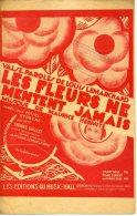 CAF CONC PARTITION***REVUE FOLIES BERGÈRE LES FLEURS NE MENTENT JAMAIS YVONNE GUILLET LEMARCHAND 1929 - Musica & Strumenti